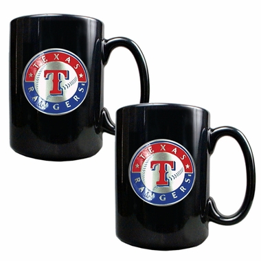 Texas Rangers 2 Piece Coffee Mug Set