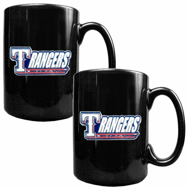 Texas Rangers 2 Piece Coffee Mug Set (Wordmark)