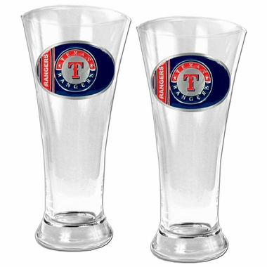 Texas Rangers 2 Piece Pilsner Glass Set