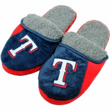 Texas Rangers 2012 Sherpa Slide Slippers