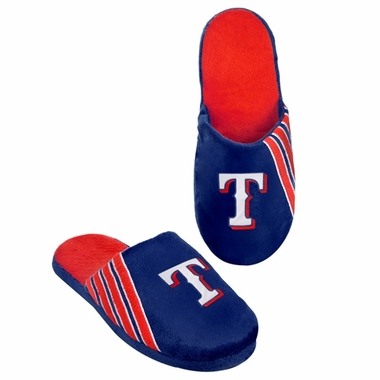 Texas Rangers 2012 Team Stripe Logo Slippers