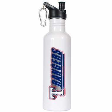 Texas Rangers 26oz Stainless Steel Water Bottle (White)