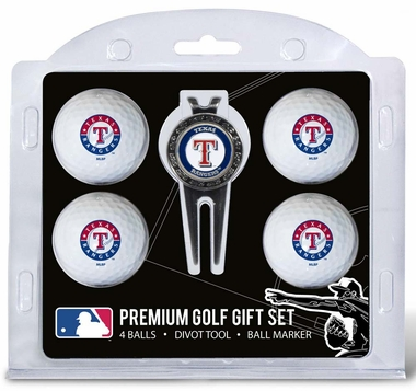 Texas Rangers 4 Ball and Divot Tool Set