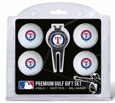 Texas Rangers 4 Ball and Tool Gift Set