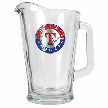 Texas Rangers 60 oz Glass Pitcher
