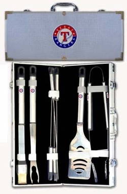 Texas Rangers 8pc. BBQ Set w/Case