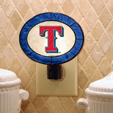 Texas Rangers Art Glass Night Light