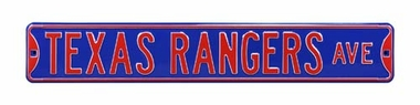 Texas Rangers Ave Street Sign