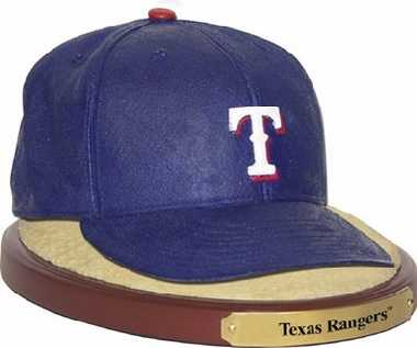 Texas Rangers Ball Cap Figurine