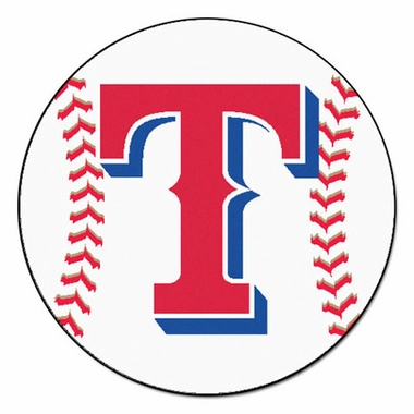 Texas Rangers Baseball Shaped Rug