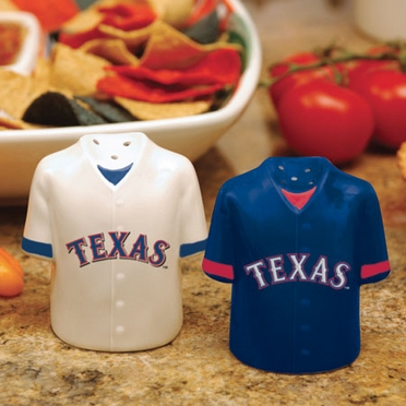 Texas Rangers Ceramic Jersey Salt and Pepper Shakers