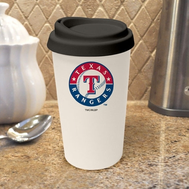 Texas Rangers Ceramic Travel Cup