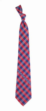 Texas Rangers Check Poly Necktie