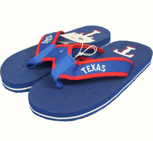 Texas Rangers Contoured Flip Flop Sandals - Medium