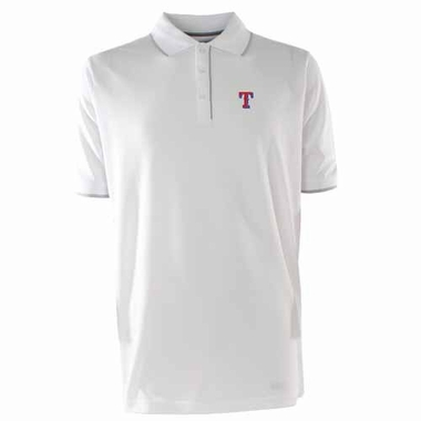 Texas Rangers Mens Elite Polo Shirt (Color: White)