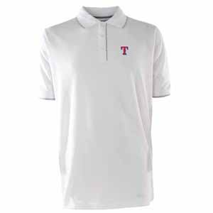 Texas Rangers Mens Elite Polo Shirt (Color: White) - Large