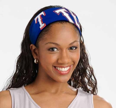 Texas Rangers FanBand Hair Band