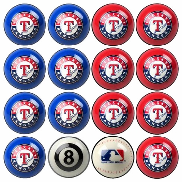 Texas Rangers Home and Away Complete Billiard Ball Set