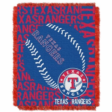 Texas Rangers Jacquard Woven Throw Blanket