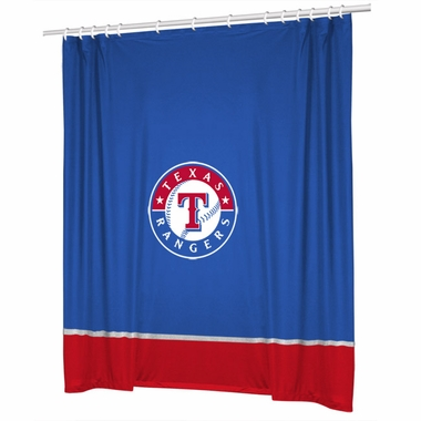 Texas Rangers Jersey Material Shower Curtain