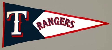 Texas Rangers Large Wool Pennant