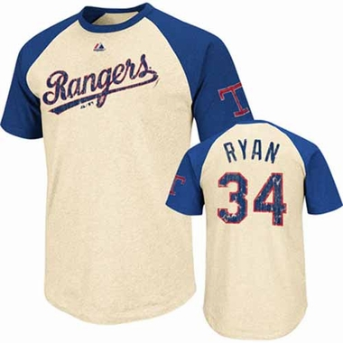 Texas Rangers Nolan Ryan Cooperstown All Star Player Raglan Premium T-Shirt