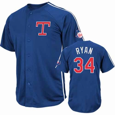 Texas Rangers Nolan Ryan Crosstown Rivalry Cooperstown Jersey