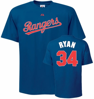 Texas Rangers Nolan Ryan Name and Number T-Shirt