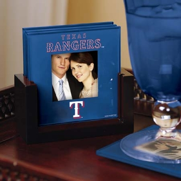Texas Rangers Photo Coaster Set