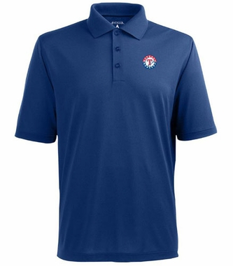 Texas Rangers Mens Pique Xtra Lite Polo Shirt (Color: Royal)