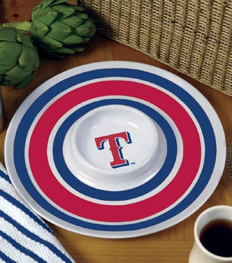 Texas Rangers Plastic Chip and Dip Plate