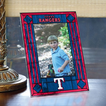 Texas Rangers Portrait Art Glass Picture Frame