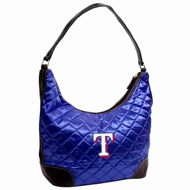 Texas Rangers Quilted Hobo Purse