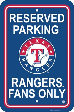 Texas Rangers Plastic Parking Sign (P)