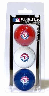 Texas Rangers Set of 3 Multicolor Golf Balls
