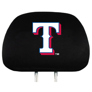 Texas Rangers Set of Headrest Covers