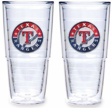 "Texas Rangers Set of TWO 24 oz. ""Big T"" Tervis Tumblers"