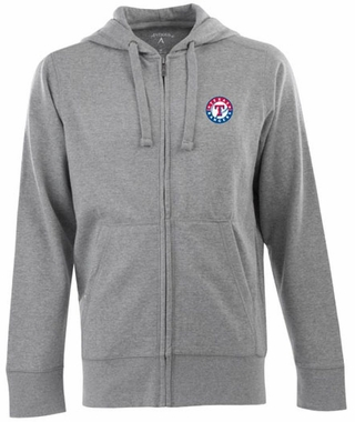 Texas Rangers Mens Signature Full Zip Hooded Sweatshirt (Color: Gray)