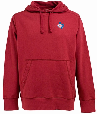 Texas Rangers Mens Signature Hooded Sweatshirt (Cooperstown) (Color: Red)