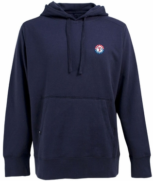 Texas Rangers Mens Signature Hooded Sweatshirt (Team Color: Navy)