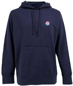 Texas Rangers Mens Signature Hooded Sweatshirt (Team Color: Navy) - Small