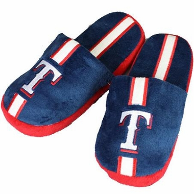 Texas Rangers Team Stripe Slide Slippers