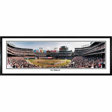 Texas Rangers The Ballpark Framed Panoramic Print