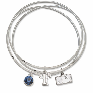 Texas Rangers Triple Bangle Bracelet
