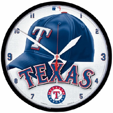 Texas Rangers Wall Clock