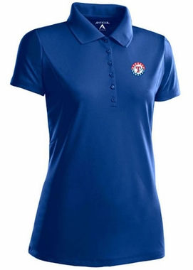 Texas Rangers Womens Pique Xtra Lite Polo Shirt (Team Color: Royal)