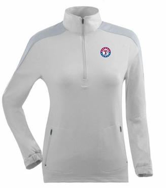 Texas Rangers Womens Succeed 1/4 Zip Performance Pullover (Color: White)
