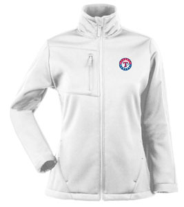 Texas Rangers Womens Traverse Jacket (Color: White) - Large