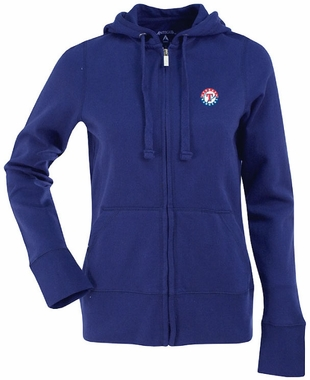Texas Rangers Womens Zip Front Hoody Sweatshirt (Color: Royal)