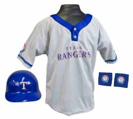Texas Rangers YOUTH Helmet and Jersey Set